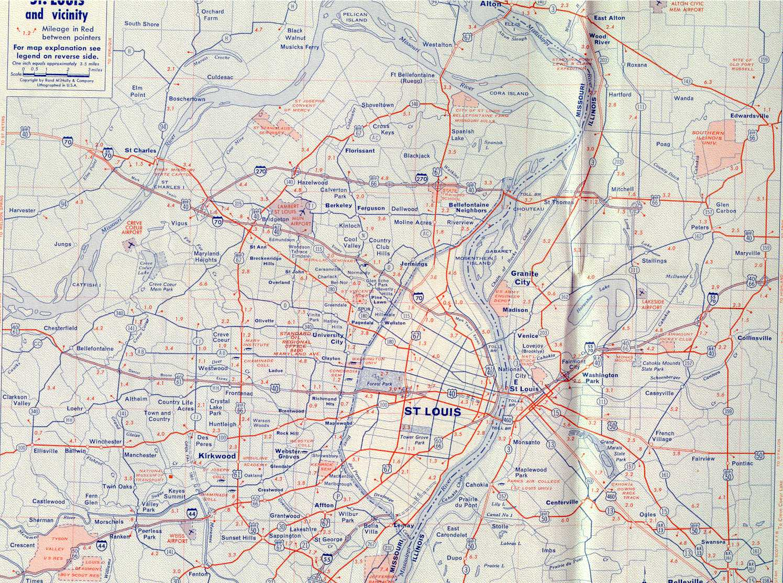 St Louis Maps Page