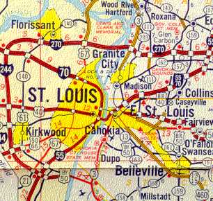 St. Louis Maps Page on hoover reservoir map, i 70 map, i 495 map, interstate 270 map,