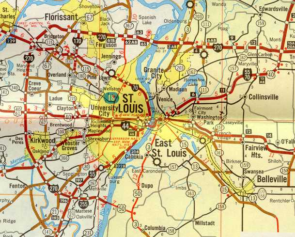 St. Louis Maps Page