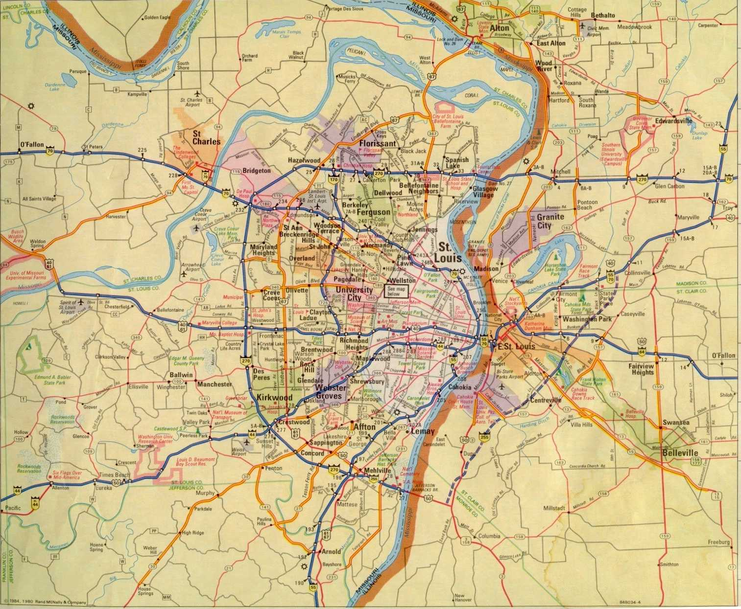 St Louis Area Map St. Louis Maps Page St Louis Area Map